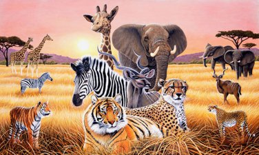 African Wild Life Cross Stitch Pattern***L@@K***