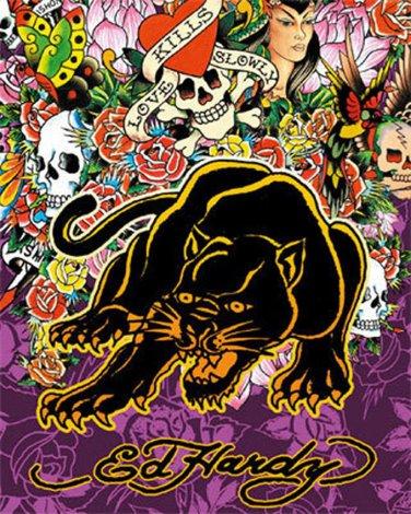 Ed Hardy Black Panther Cross Stitch Pattern***L@@K****