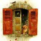Kitty At The Window Cross Stitch Pattern***L@@K***