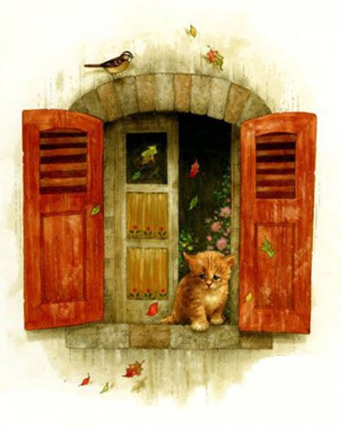 Kitty At The Window Cross Stitch Pattern***L@@K***
