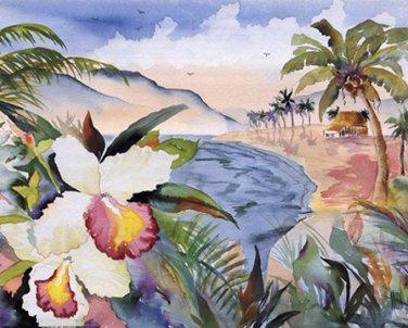 Hawaiian Orchids Cross Stitch Pattern***L@@K***