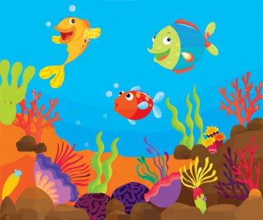 Tropical Fish Scene Cross Stitch Pattern***L@@K***