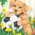 Puppy & Soccer Ball Cross Stitch Pattern***L@@K***