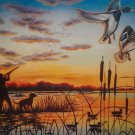 Morning Duck Hunt Cross Stitch Pattern***L@@K***