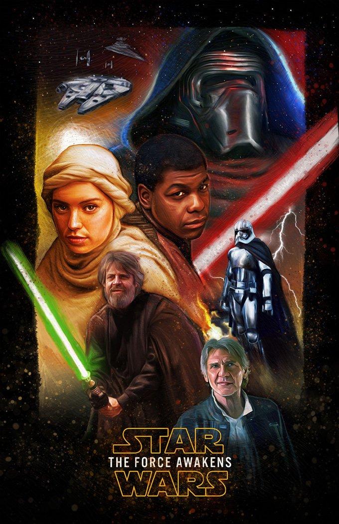 Star Wars A Force Awakens Cross Stitch Pattern***L@@K***
