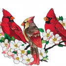 Cardinals In DogWood Tree Cross Stitch Pattern***L@@K***