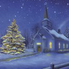 Country Church Christmas Cross Stitch Pattern***L@@K***
