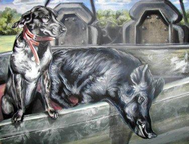 Hog Hunting Cross Stitch Pattern***L@@K***