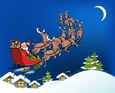 Santa Taking Off Cross Stitch Pattern***L@@K***