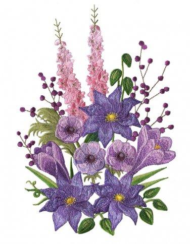 Purple Passion Flowers Cross Stitch Pattern***LOOK***