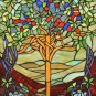 Stained Glass Tree Of Life Cross Stitch Pattern***LOOK***