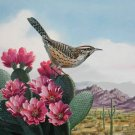 Bird Cactus Wren Cross Stitch Pattern***L@@K***