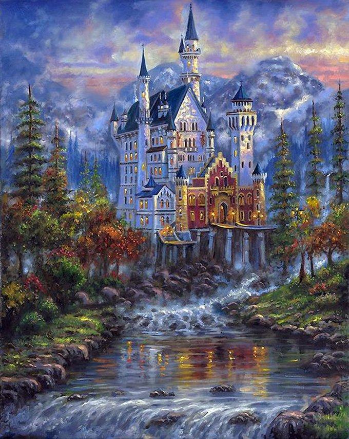 Autumn Mist Castle Cross Stitch Pattern***L@@K***