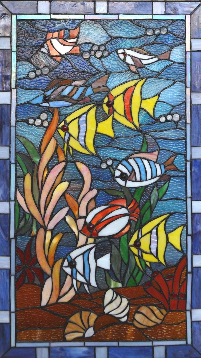 Stained Glass Fish Cross Stitch Pattern***L@@K***