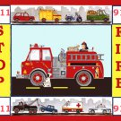 Fire Engine Truck Cross Stitch Pattern***LOOK**