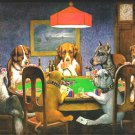 Dogs PLaying Poker Cross Stitch Pattern***LOOK***