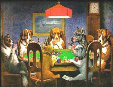 Dogs PLaying Poker Cross Stitch Pattern***LOOK***