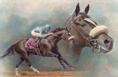 Zenyatta Race Horse Cross Stitch Pattern***L@@K***