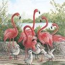 Pink FLamingo Birds Cross Stitch Pattern***LOOK***