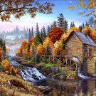 Fall Woods Mill Cross Stitch Pattern***LOOK***