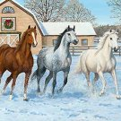 Horses In Snow Cross Stitch Pattern***LOOK***