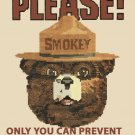 Smokey The Bear Cross Stitch Pattern***LOOK***