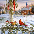 American Christmas Winter Cross Stitch Pattern***L@@K***