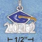 "Sterling Silver Enamel ""2012"" Graduation Cap Charm"