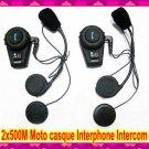 Interphone Intercom Motorcycle Helmet  2x500M