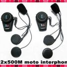 Motorcycle Bluetooth Multi Interphone headsets 2pcs latest design quality