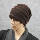 3pcs fashion tide male Hat Winter knitted cap double-layer inner fleece scarf hat