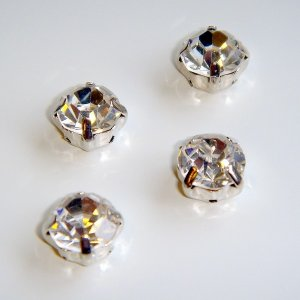 montee loose 4.5mm crystal sew on clear rhinestone Silver 1440 pcs