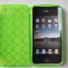 TPU Circle Patterned case for Apple iPhone 4G (Lime Green)