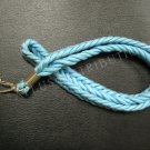 NEW FASHIONABLE NYLON SOLID BRAIDED ROPE LANYARD - LIGHT BLUE