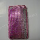New Pink Shades Of Pink Design Crystal Bling Diamond Case For iPhone 3G 3Gs - (0054)