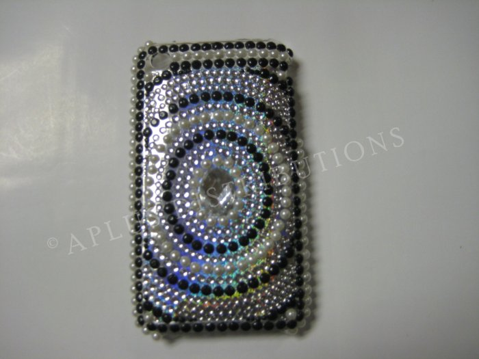 New Black Diamond In Circle Design Crystal Bling Diamond Case For iPhone 3G 3Gs - (0023)