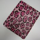 Plastic Hard Back Snap-On Cover for Apple iPad  BIG LEOPARD PATTERN- PINK