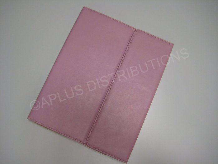 NEW LEATHER NOTEBOOK STYLE FOR APPLE iPAD- PINK