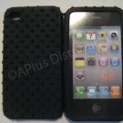 NEW Mutli-Bumps Silicone Case For Apple iPhone 4G  Black