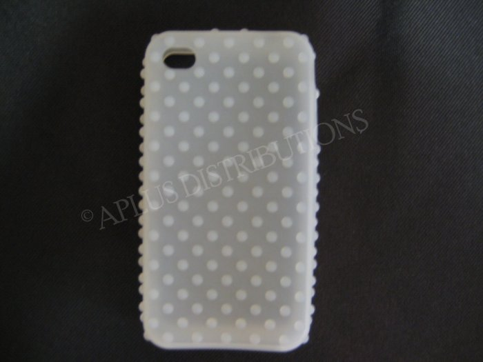 New Clear Multi-Bumps Design Silicone Cover For iPhone 4 - (0161)