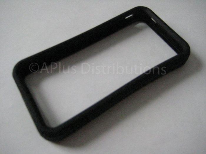 New Black Bumper Design Silicone Cover For iPhone 4 - (0113)