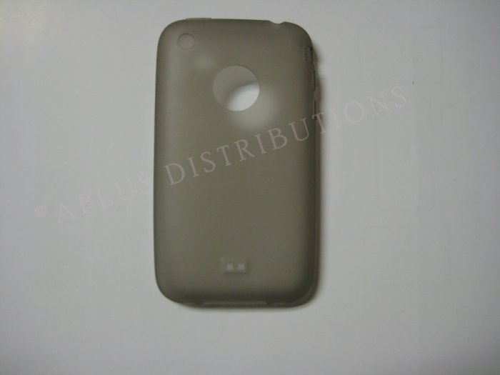 New Smoke Transparent W/Charm Hole Design TPU Cover For iPhone 3G 3GS - (0002)