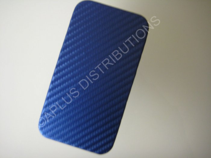 New Dark Blue Carbon Flap Cover Design Hard Protective Cover For iPhone 4 - (0140)
