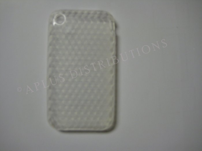 New Clear Diamond Cut Pattern TPU Cover For iPhone 3G 3GS - (0016)