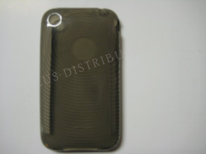 New Black Transparent Thumb Print Design TPU Cover For iPhone 3G 3GS - (0022)