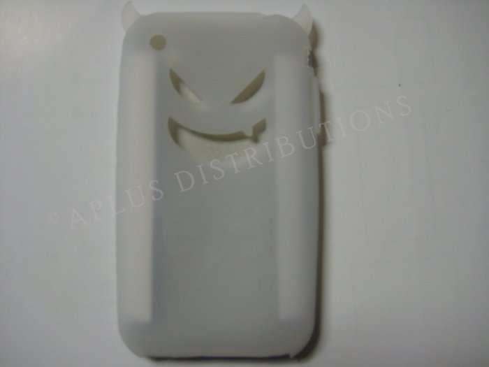 New Clear Devil Design Silicone Cover For iPhone 3G 3GS - (0017)