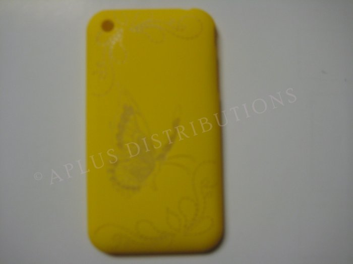 New Yellow Butterfly Design Hard Protective Cover For iPhone 3G 3GS - (0003)