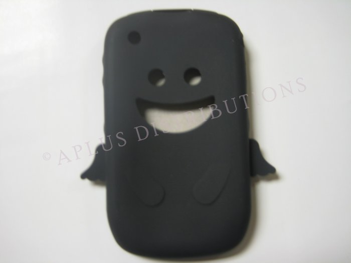 New Black Angel Design Silicone Cover For Blackberry 8520 - (0027)