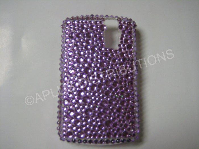 New Purple Multi-Diamonds Bling Diamond Case For Blackberry 8300 - (0019)