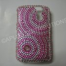New Hot Pink Diamond Swirlz Bling Diamond Case For Blackberry 8300 - (0025)